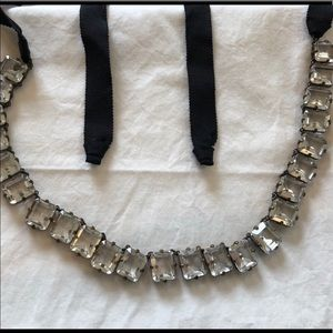 J. Crew Square Crystal necklace. Like new.